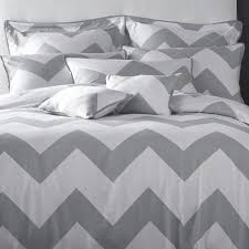 grey white chevron nicole miller bedding for bedroom decoration ideas