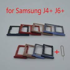 Dành Cho Samsung Galaxy Samsung Galaxy J6 Plus J6 + J610 J610F J610FN J610G  Điện Thoại Chính Hãng Nhà Ở Khay Sim Adapter Thẻ Nhớ Micro SD khay Đựng|SIM  Card Adapters