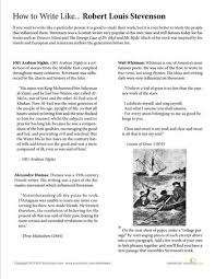 Beginning writers  find inspiration from a few famous authors  with this reading and writing activity based on the influences of Robert Louis Stevenson  Pinterest