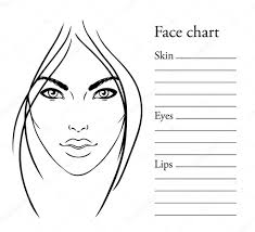 free printable face chart clipart makeup artist charts template female faces large notebook it es with