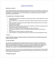 Sample Unsolicited Proposal Template 7 Free Documents In Pdf Word