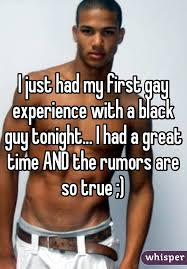 Black man first gay time