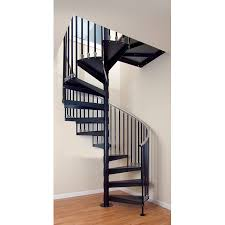 the iron elk grove 48 in x 10 25 ft gray spiral staircase kit
