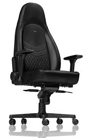 office chair picture. Noblechairs ICON Real Leather Black Gaming Chair And Office Picture