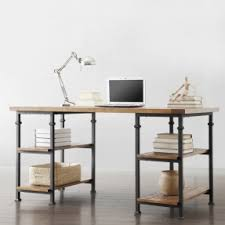 rustic home office desk. tribecca home myra vintage industrial modern rustic oak storage desk home office