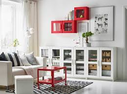wall cabinets living room furniture. A White Living Room With Two-seat Sofa And Low Storage Combination Wall Cabinets Furniture