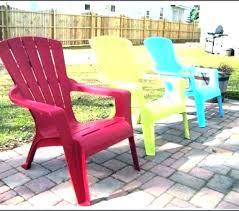 colorful plastic outdoor chairs patio row bright colors interior designin