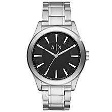 armani exchange watches uk men s ladies h samuel armani exchange men s stainless steel bracelet watch product number 5218489