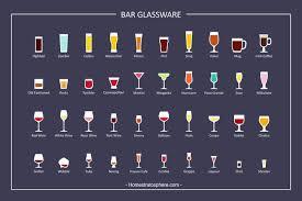 Sake Types Chart 27 Types Of Bar Glasses Illustrated Chart