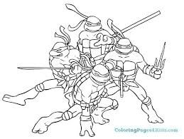 Coloring Pages Printable For Teenagers Teenage Mutant Ninja Turtles