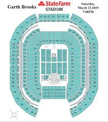State Farm Center Seating Chart With Seat Numbers Garth Brooks Stadium Tour State Farm Stadium