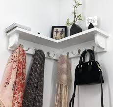 corner shelf with 6 double garment
