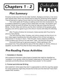 outsiders chapter summaries pre reading activities writing outsiders chapter summaries pre reading activities writing questions