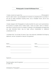 Photography Consent Form Template Model Release Contract Rm
