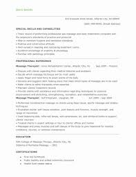Massage Therapy Resume Cover Letter Therapist Objective Examples