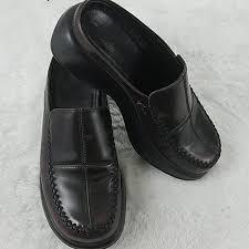 Dansko Size 36 Leather Slip On Mules Clogs