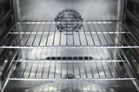 a close up of the interior of a clean oven