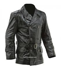 ww1 imperial german fighter pilots leather jacket black