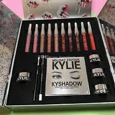 makeup kits for sale. kylie jenner makeup holiday edition big box set lipstick eyeshadow eyeliner lip kit christmas gift matte liquid lipsticks cheap brush kits for sale