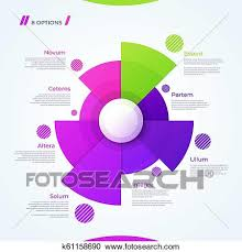 Modern Chart Design Vector Circle Chart Design Template For Creating