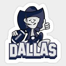 cartoon dallas cowboys nfl team sticker
