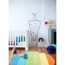 bright coloured rainbow green area kids round rug