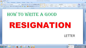 Sample Resignation Letter Tagalog How To Write A Good Resignation Letter