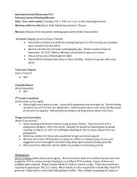 Minutes Of The Meeting Meeting Minutes Beechwood Knoll Pto