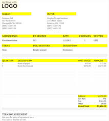 Printable Commercial Invoice 5 Commercial Invoice Templates To Stay Professional