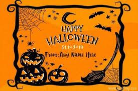 Halloween Text Effect Card