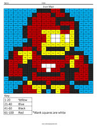 Small Picture Superhero Multiplication and Division Coloring Squared