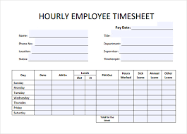 Sample Timesheets For Hourly Employees 11 Hourly Timesheet Calculators 11 Free Sample Example Format