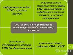 Презентация на тему Формы НИД студентов Организация и проведение  4 информация