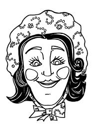 Katrin Kleurplaat Malvorlage Maske Katrin Ausmalbild 9180