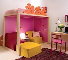 Kids Bedroom Chair Bedroom Marvelous Kids Bedroom Design Wooden Loft Bed Along Pink
