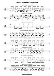 Free Drum Transcriptions Pdf Music Sheet John Bonham Grooves