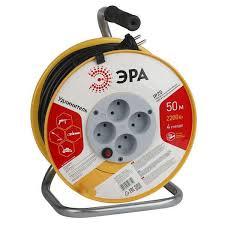 <b>Удлинитель ЭРА</b> (пластиковая катушка <b>без заземления</b>) RP-4 ...