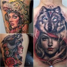тату волк тонкости тату с волком тату девушка с волком на голове