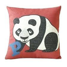 outdoor pillow covers cm adorable panda print burlap decorative pillows yellow outdoor pillows