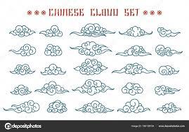 набор китайских облака векторное изображение Vectortatu 190138154