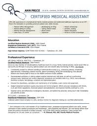 Medical Assistant Resume With No Experience Interesting Medical Assistant Resume Experienced44 Certified Stirring Templates