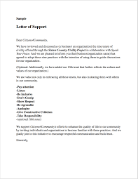 Letter Of Support Sample Sample Resolutions Letters Pledges Citizens24Community 10