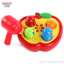 bain shi knocking fruit insects infant children playing hamster toys large 6 12 months one year old baby puzzle whole