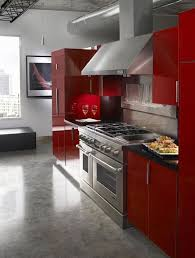 Cuisine Moderne Rouge Et Gris Je Fouine Tu Fouines Il Fouine