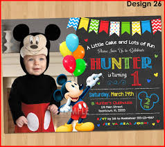 baby mickey mouse invitations birthday inspirational mickey mouse 1st birthday invitations collection of