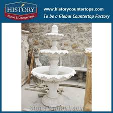 skillful manufacture novel design fountain pink marble three tiers fountain for househlod decoration with low stone sculptured water fountain