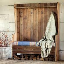 organized hallways with beautiful coat rack bench and entry plans