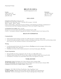 Examples Of A Functional Resume Resume Template