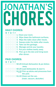 chore chart template for teenagers old fashioned allowance chore chart template festooning