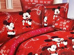 red mickey and minnie mouse bedding sets for holiday bedding kids bedding sets